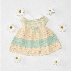 Infant Crochet Easter Dress | AllFreeCrochet.com