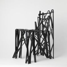 A 3-D printed chair by Patrick Jouin