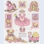 Girl Birth - Coats Crafts counted cross-stitch kit
