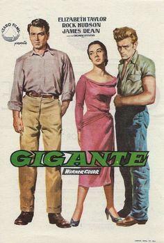 Giant movie poster - Rock Hudson, Elizabeth Taylor and James Dean.