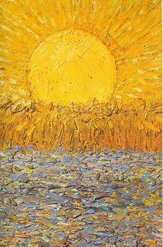 "Vincent van Gogh ""Le soleil"", Van Gogh Museum Amsterdam, Netherlands www.vangoghmuseum.nl"