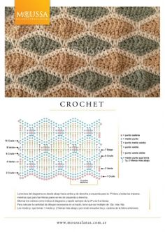 Watch This Video Beauteous Finished Make Crochet Look Like Knitting (the Waistcoat Stitch) Ideas. Amazing Make Crochet Look Like Knitting (the Waistcoat Stitch) Ideas. Crochet Diy, Crochet Motifs, Crochet Diagram, Crochet Stitches Patterns, Tunisian Crochet, Crochet Chart, Love Crochet, Knitting Stitches, Crochet Designs