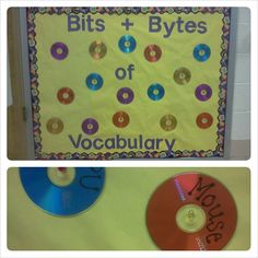 Vocabulary BB...terms written on CDs. Great for technology/computer lab but could easily be adapted for a music classroom.AES
