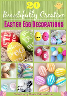 20 Easter Egg Decorations