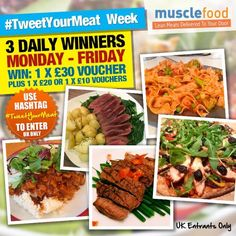 Day 3 of #TweetYourMeat week! Let's see your photos of MuscleFood products Win http://www.musclefood.com vouchers today!