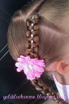 I want to do this variation with the ribbon on Ava's hair.
