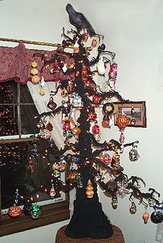 halloween tree and ornaments