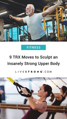 9 TRX Moves to Sculpt an Insanely Strong Upper Body If you're looking to add some variety to your upper-body strength-training routine, incorporate these nine TRX suspension training exercises to build upper-body strength. Suspension Training, Suspension Workout, Trx Suspension, Suspension Straps, Trx Training, Strength Training Program, Training Exercises, Training Programs, Trx Workouts For Women