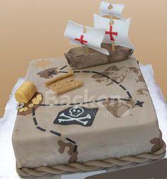Piratas Pirate Birthday, Pirate Theme, Party Co, Nautical Party, Mermaid Parties, Colorful Cakes, 6th Birthday Parties, Party Themes, Cake Decorating