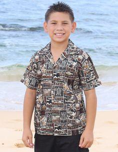 e87b1eca Check out the deal on Hawaii Culture Boy Aloha Shirt at Shaka Time Hawaii  Clothing Store