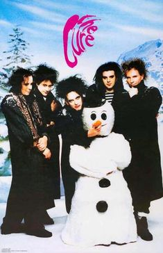 Most Goth-inclined families and individuals can usually serve their holiday music needs through the soundtrack work of former Oingo Boingo frontman Danny Elfman on such Tim Burton films as Batman…View Post Goth Bands, Punk Poster, Robert Smith The Cure, Tim Burton Films, Gothic Rock, Band Posters, Music Posters, Christmas Aesthetic, Wall Collage