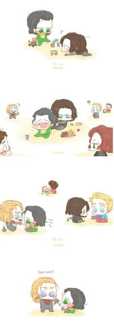 Baby Loki || Avengers || Thor, Captain America, Black Widow, Bucky, Black Widow, Spider-Man & Iron Man || Cr: Alexa