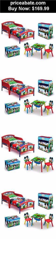 Kids-Furniture: Toddler Bedroom Furniture Disney Mickey Mouse Bed Table Chair Toy Storage New - BUY IT NOW ONLY $169.99
