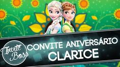 Convite Animado Aniversário (Frozen Fever) - Clarice