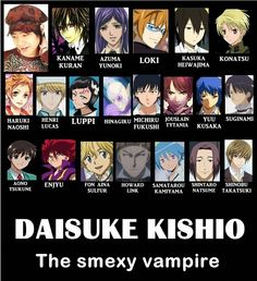 Voice Actor: Daisuke Kishio he does the horrible purple haired guy from La Corda d'oro... Ok maybe not horrible but I still don't like him.