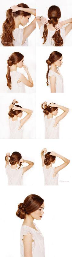 как сделать пучок для длинных волос