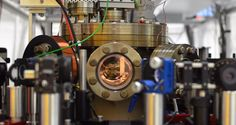A team of physicists has just created the world's smallest working engine from a single electrically-charged atom (Credit: JGU).