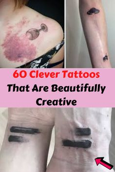 Tattoos Discover 60 Clever Tattoos That Are Beautifully Creative 60 Clever Tattoos That Are Beautifully Creative Clever Tattoos, Cool Gadgets To Buy, Double Standards, Matching Tattoos, Cool Pins, Good Jokes, Show Photos, Classic Collection, New Pins