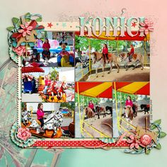 Digital layout using Amber Shaw and Kristin Cronin-Barrow: At The Boardwalk at Sweet Shoppe Designs