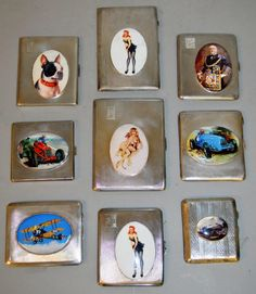 A good collection of collection of various enamelled cigarette cases and vestas. Various estimates.