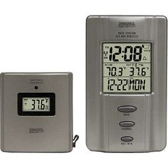Springfield Multi-Zone Wireless Thermometer With Radio-Controlled Clock:High/low temperature memory & Monitors temperature in up to 4 locations. Monitor temperature outside, in the green house and chicken coop all in one. AWESOME