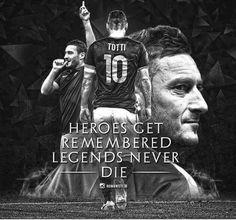 #FrancescoTotti #ByMario Totti Francesco, As Roma, Hero, My Love, Movie Posters, Movies, Soccer, Football, Sports
