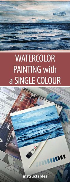 Watercolor Painting with a Single Color #art #watercolorarts