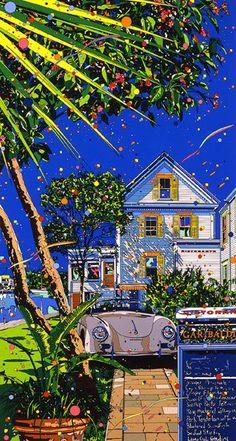 """Eizin Suzuki. (鈴木英人. Japanese, 1948~) 에이진 스즈키, 일본 출신의 그래픽 디자이너이자 일러스트레이터. 강렬한 팝아트적 컬러가 선사하는 짙푸른 청량함."""