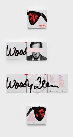 Woody Allen DVD Covers by Kamil Borowski, via Behance                                                                                                                                                                                 More