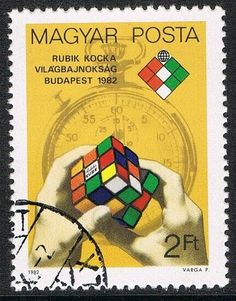 [CF7460] Hungría 1982, I Campeonato munidal de cubos Rubik en Budapest (CTO) Budapest, Stamps, Baseball Cards, Ebay, Cubes, Seals, Postage Stamps, Stamp