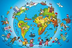 Kids Homework, Les Continents, History Activities, Preschool Education, Travel Party, Teaching French, World Peace, English Lessons, Learn French