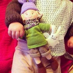 Trousselier doll with mini Ange Lapin