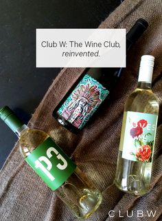 Club W reimagines the way you drink wine. From giving you the story of the winemaker to collaborating with artists and chefs. Get Started with Personalized Wine Recs!