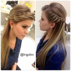 To know more about cool and classy easy hairstyles for straight hair, look into the gallery and be lost in the large variegation of trendy hairstyles for all hair length women. Trendy Hairstyles, Straight Hairstyles, Girl Hairstyles, Braided Hairstyles, Wedding Hairstyles, Hairstyles For The Office, Super Hair, Bridesmaid Hair, Hair Dos