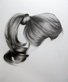 Realistic Hair Drawings by Brittany Schall