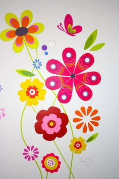 Flowers. Wall decal. Google Image Result for http://www.designyourwall.com/sites/default/files/images/imagecache/product_full_custom_mural/P/flower_wall_sticker.jpg