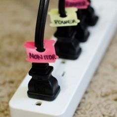 This is amazing. Cords are the WORST when it comes to keeping a de-cluttered space.