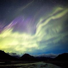 It's that time of year again! The nights are dark enough that when a good solar wind is blowing, the #NorthernLights are visible in the sky over #Denali National Park in #Alaska. Here is what the #auroraborealis looked like at 2 am today over the Toklat River. Photo by Daniel A. Leifheit (@danleifheit), #NationalPark Service.