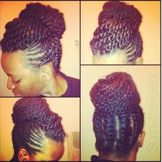 Natural hair updo..I will be trying this one!