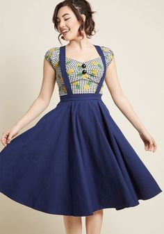 Collectif x MC Curtsy Courtesy Midi Jumper in Navy in 22 (UK) by Collectif from ModCloth