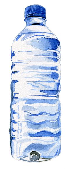 I like the atypical subject matter. Inspiration is everywhere. (Water Bottle Drawing)