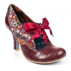 Irregular Choice Womens Quillglimmer Red High Heel Shoe Boot
