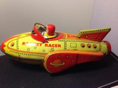 Rocket Racer Vintage Antique Tin Type Toy | eBay