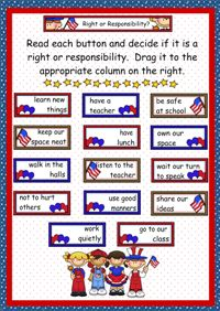 Rights and Responsibilities | School | Pinterest | Student ...