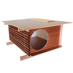 Post and Beam Cat House via @Hauspanther