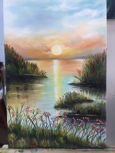 Video by Art of John Magne Lisondra Acrylic painting techniques and tutorials for beginners. In this tutorial, you will learn on how to paint hanging or Watercolor Landscape, Landscape Art, Landscape Paintings, Watercolor Art, Easy Canvas Painting, Canvas Art, Pinturas Bob Ross, Bob Ross Paintings, Pictures To Paint