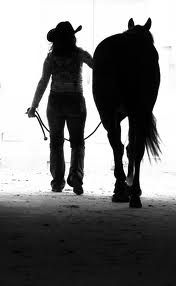 Just a girl and her horse<3