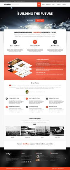 Calypso Wordpress , a multipurpose WordPress theme suitable for anyone. It uses the Drag-and-Drop, super flexible and highly intuitive page builder.