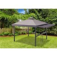 Amazon Com Sunjoy A102008500 Chapman 10x10 Ft Cedar Framed Gazebo With Steel 2 Tier Hip Roof Hardtop Brown Garden In 2020 Modern Gazebo Gazebo Outdoor Gardens