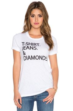 Chaser The Simple Life Tee in White - this about sums me up!